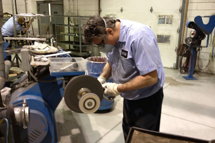 Polishing is Done in a Segregated Room with Air Scrubbers